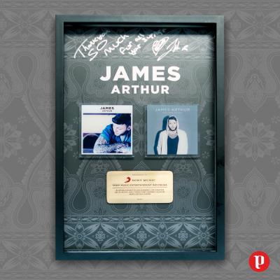 Gold certifications in Indonesia untuk James Arthur [Desain Plakat]